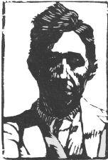 wood-engraving of Rough Portrait of Jacques Raverat (Giclée only)